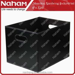 NAHAM Rectangular Leather Storage Opening Tote Gift/Sundries Basket