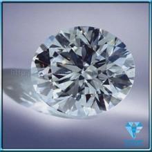 white white brilliant cut round cubic zirconia gemstone (white RD CZ gems)