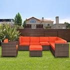 Outdoor Rattan Balcony Sofa Set Rattan Sofa Cushion Covers kopen