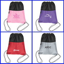 new design hot selling cheap poromotion wholesale nylon mesh drawstring bag