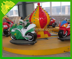 Fiberglass kids ride on plastic motorcycle funny car game for sale