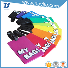 OEM factory in china travel accessories promotional items standard size blank pvc luggage tag wholesale bulk plastic hang tag