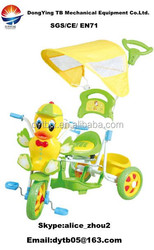 yellow duck child tricycle /kids tricycle baby ride on car