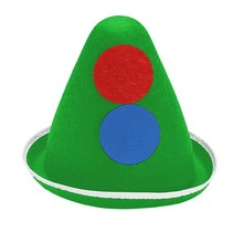funny hat with big dots green clown hat