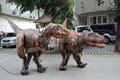Súper ventas hechos a mano pintura robótica vestuario dinosaur