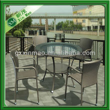 4 seater round glass top dining table set