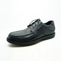 Square toe shoes lace up corfortable and classic design men guine leather office shoes for meeting and business