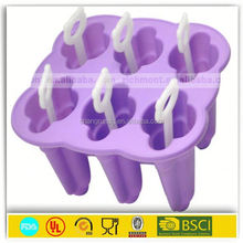 high quality new design long handle plastic ice cream spoon mould & mini ice cube tray