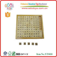 1-100 Number Board Math Learning Toys Best Sale Preschool Equipment Wooden Learning Math Toys