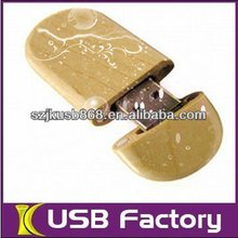 Simple style wooden 8gb drive disk