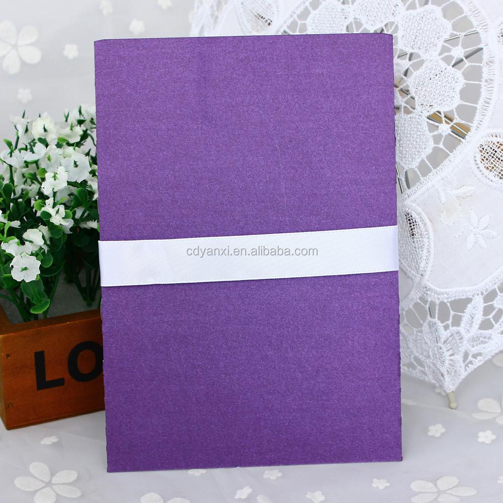 Cópia 3D personalizada com laser cortou os cartões de convite de cerimônia de casamento formal feitos à mão de luxo 2017
