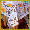 Latest high quality beautiful family Waterproof table cloth