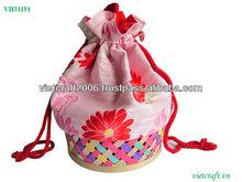 Lucky bamboo cotton purse