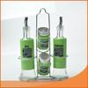 stainless steel glass cruet bottle vinegar oil bottles and spice jar sets