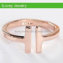 mili gold plating cheap plain silver double one 1 ring, am 11 shape ring, eleven ring