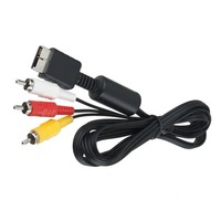 Audio Video Cable RCA Cable NEW 6 Ft AV Video Volume Control RCA Audio Cable For PlayStation PS / PS2 / PS3