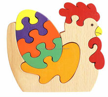 Wooden Cock Puzzle Toys