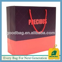 2014 hot lady shoes glossy laminated art paper bag ELE-CN0901 Christmas new product