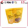 custom printing food grade bag poly bags with snap closure
