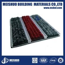 Economical easy install aluminum base Dustproof door mats commercial