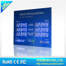 electronic exchange rate board \ digital led exchange rate display for bank sign \ electronics led exchange rate panel