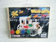 Wood art& craft kits antique car DIY toys for boys 6+