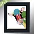 มือ100%- ทาสีที่มีสีสันการ์ตูนวัวจิตรกรรมฝาผนังสำหรับโรงเรียนอนุบาล