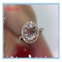 High quality fashion design hot sale Morganite Engagement Ring