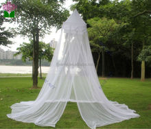 White canopy mosquito net