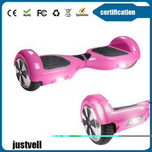 Fast and safe 2 wheels self balancing electric scooter with LED light