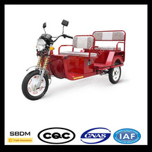 Three Wheel Folding Electric Tricycle Used Battery With Passenger Seat For Passenger