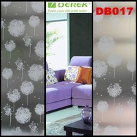 PVC frosted indoor flower design decoration adhesive glass window film