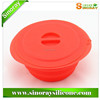 Wholesale In China collapsible silicone microwave bowl with handle