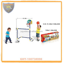 Foldable 2 in 1 soccer goal with target basketball and EN71 certificate