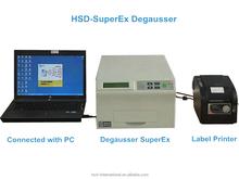 hard disk duplicator/degaussing machine