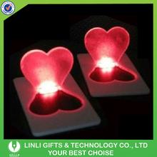 Heart Shape LED Flashing Card Light For Valentine