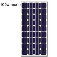 100w mono solar panel portable solar kit