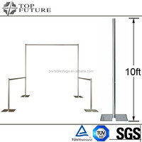 trade shows event portable Telescopic pipe and drape system, fix upright TF1015 , sliver/black