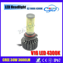 Hot automobile parts 30w 3600LM 12v voltage led motorcycle headlight h7 h4 h11 h13 9005 9006 car led
