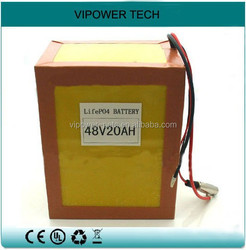 48V 20Ah LiFePO4 E-Bike Battery Pack OEM Electric Bicycle Battery Lithium Iron Phosphate Rechargeable Batteries