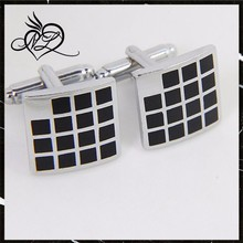 Classic stainless steel ancient plaid square cufflink jewelry wholesale