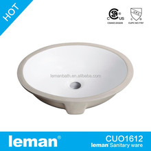 Can enjoy 500USD CouponCUO1612 UPC,CSA Approved, Porcelain Sink,Ceramic oval Undercounter Bathroom Basin