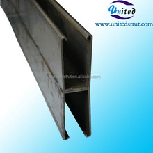 UNITED 124*62mm hot dipped galvanized dual C channel strut/ 124*62mm double C purline /124*62mm Gal. Steel frame and fittings