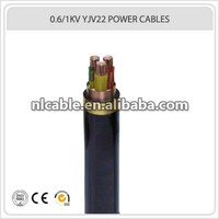 Copper Conductor XLPE Insulation 0.6/1KV YJV22 3*35MM Power Cable