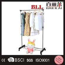 Sigle Movable Garment Rack Hanging Clothes