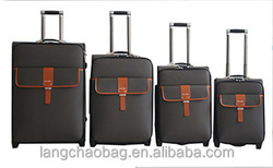 """Pu Chaps Luggage ISO certificateLuggage factory oem 19""""23""""26""""29inch two wheel hot sale Pu Travel Luggage"""
