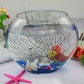 Vidrio del tanque de peces/acuario de vidrio/los tanques de peces de vidrio redondo/hechos a mano de cristal cuadrada plato de pescado