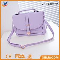 cube bag style lady candy bag pu leather satchel