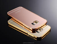 Case cover for samsung galaxy s6 , best price good quality metal bumper mirror mobile phone case