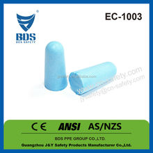 2015 Hot sale bullet shape disposable ear plugs for shooting with CE EN 352-2 ANSI AS/NZS 1270 approved